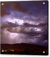 Lightning Strikes During A Thunderstorm Acrylic Print