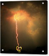 Lightning Strikes The Heart Acrylic Print