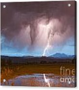 Lightning Striking Longs Peak Foothills 3 Acrylic Print