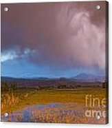 Lightning Striking Longs Peak Foothills 7 Acrylic Print