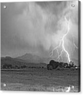 Lightning Striking Longs Peak Foothills 7cbw Acrylic Print