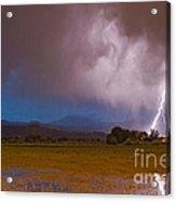Lightning Striking Longs Peak Foothills 8 Acrylic Print