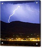 Lightning Striking Over Ibm Boulder Co 1 Acrylic Print