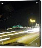 Lightwriting Tappan Zee Bridge Acrylic Print