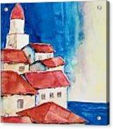 Ligurian Coaast Acrylic Print by Regina Ammerman