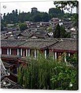 Lijiang Rooftops Acrylic Print