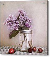 Lilac And Cherries Acrylic Print