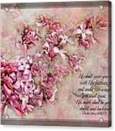 Lilacs With Verse Acrylic Print