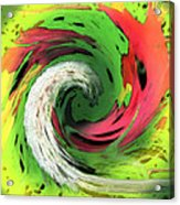 Lime And Red Acrylic Print