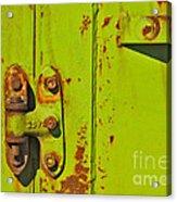 Lime Hinge Acrylic Print