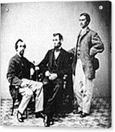 Lincoln & Secretaries, Acrylic Print