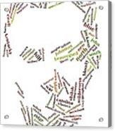 Lincoln As Word Cloud Acrylic Print