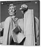 Lincoln Enshrined Acrylic Print