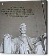 Lincoln Memorial - Enshrined Forever Acrylic Print