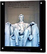 Lincoln Memorial Acrylic Print by Jim McDonald Photography