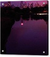 Lincoln Park In Chicago - Late Summer Dusk Acrylic Print