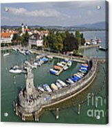 Lindau Harbor Lake Constance Bavaria Germany Acrylic Print by Matthias Hauser