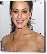 Lindsay Lohan Wearing Chanel Earrings Acrylic Print