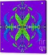 Linear Movement In Purple Acrylic Print