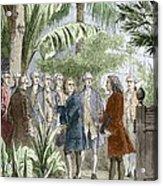 Linnaeus And De Jussieu, Botanists Acrylic Print