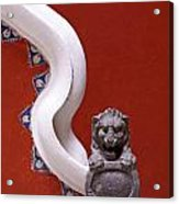 Lion And Bannister Puebla Mexico Acrylic Print