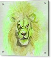 Lion Green Acrylic Print
