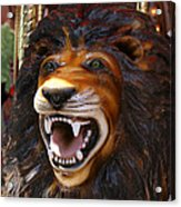 Lion Merry Go Round Animal Acrylic Print