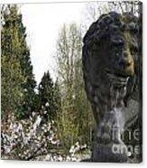 Lion Sculpture Acrylic Print