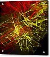 Liquid Saphire 17 Acrylic Print by Cyryn Fyrcyd