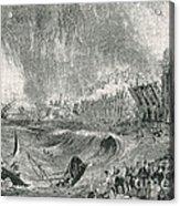 Lisbon Tsunami, 1755 Acrylic Print