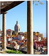 Lisbon View Acrylic Print by Carlos Caetano