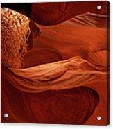 Lit Tumbleweed In A Slot Canyon Acrylic Print
