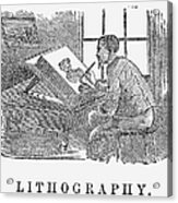 Lithography, 19th Century Acrylic Print