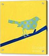 Little Blue Bird Acrylic Print