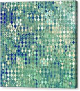 Little Blue Diamonds Acrylic Print