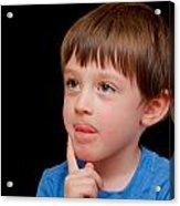 Little Boy Acrylic Print