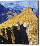 Little Chapel On The Mountain Acrylic Print by George Oze