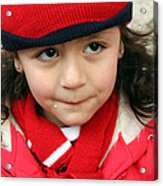 Little Girl In Red Acrylic Print