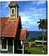 Little Green Church In Hawaii Acrylic Print