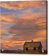 Little House On The Colorado Prairie Acrylic Print