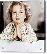 Little Miss Marker, Shirley Temple, 1934 Acrylic Print