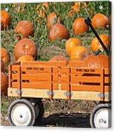 Little Orange Wagon Acrylic Print