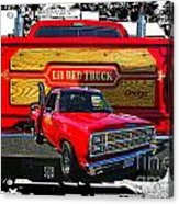 Little Red Express Dbl Hdr Acrylic Print