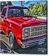 Little Red Express Hdr Acrylic Print