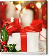 Little Red Ribboned Gift Acrylic Print