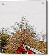 Little Red Shanty - No. 351 Acrylic Print