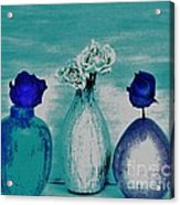 Littlle Vases Dried Roses Acrylic Print