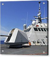 Littoral Combat Ship Uss Freedom Acrylic Print by Stocktrek Images