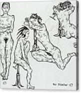 Live Nude 23 Female Acrylic Print