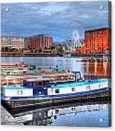 Liverpool England Acrylic Print by Barry R Jones Jr